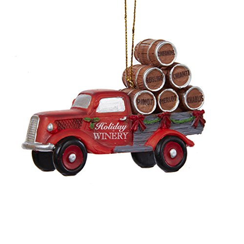 """Kurt Adler """"Holiday Winery"""" Delivery Truck Ornament – 3.5″ – D2284"""
