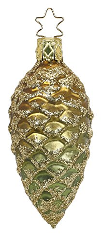 Glittered Cone, #1-133-15, from the 2015 Innocent Hearts Collection by Inge-Glas Manufaktur; Gift Box Included