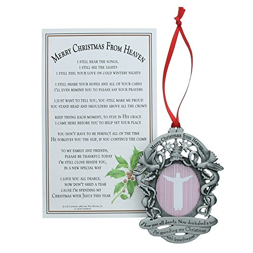 Merry Christmas from Heaven Photo Ornament – Loved Ones Tree Decoration