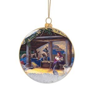 Enesco Thomas Kincaid Painter of Light Nativity Ornament, 3.875-Inch