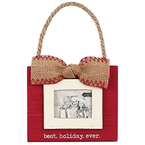 Mud Pie 4695212 Best Holiday Ever Ornament Fra