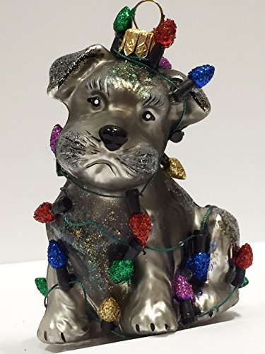 Ornaments to Remember: SCHNAUZER PUPPY (Christmas Lights) Christmas Ornament