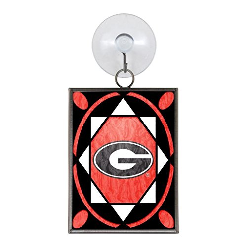 Georgia Bulldogs NCAA 2 x 3 Stained Glass Christmas Ornament UGA Topperscot