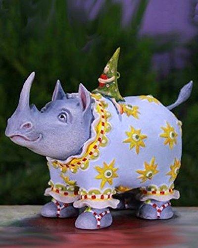5.5″ Patience Brewster Krinkles Roberta Rhino Decorative Christmas Figure Ornament
