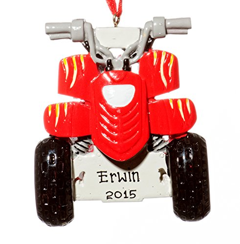 Christmas Holiday ATV Ornament-Free Name Personalized-Shipped In One Day
