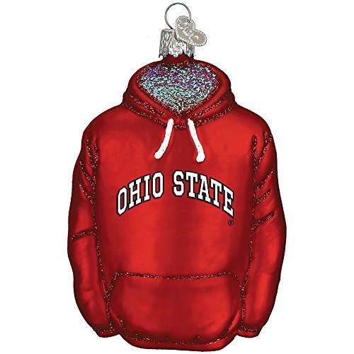 Mouth-Blown Glass College Hoodie Keepsake Christmas Ornament – Ohio State