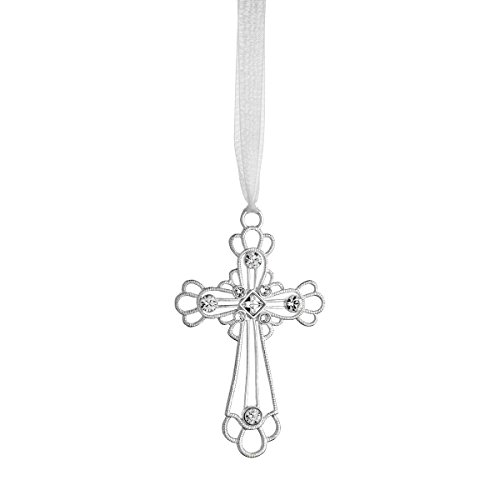 Reed & Barton LO413 Lunt Crystal Cross Ornament