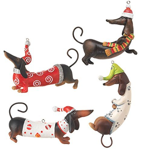RAZ Imports – Dachshund Ornaments (Set of 4)