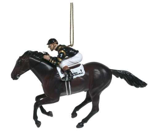War Admiral – 1937 Triple Crown Winner – Hand Decorated Christmas Tree Ornament
