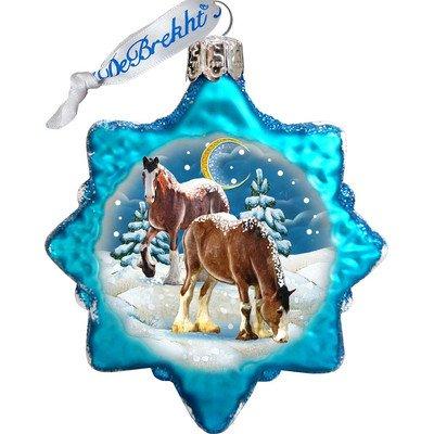 G. Debrekht Santa's Horse Glass Ornament