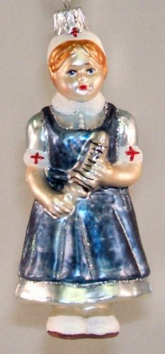 Hospital Nurse Polish Glass Nursing Christmas Tree Ornament