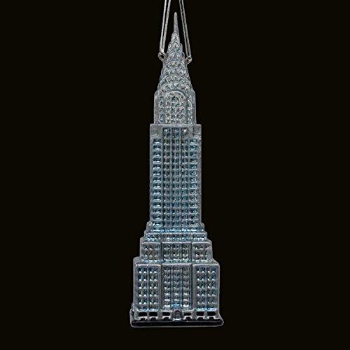Kurt Adler Noble Gems Glass Chrysler Building, 6.5-Inch
