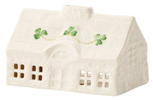 Belleek 2939 Thatch Cottage Votive