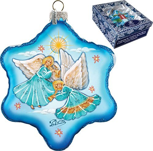 G. Debrekht Guardian Snowflake Glass Ornament