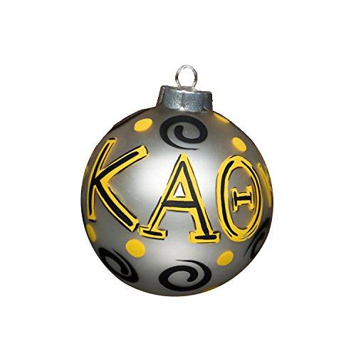 Glory Haus Kappa Alpha Theta Glass Ornament, 4-Inch