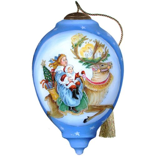NeQwa Art Love and Joy Comes to You Ornament By Artist Frances Tyrrell 829