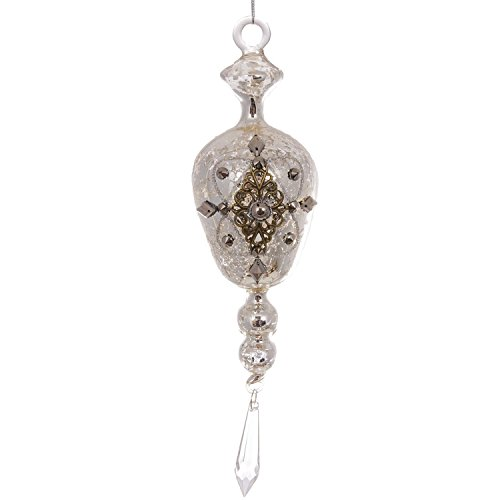 Glass Jeweled Hanging Ornament (6-Pack)