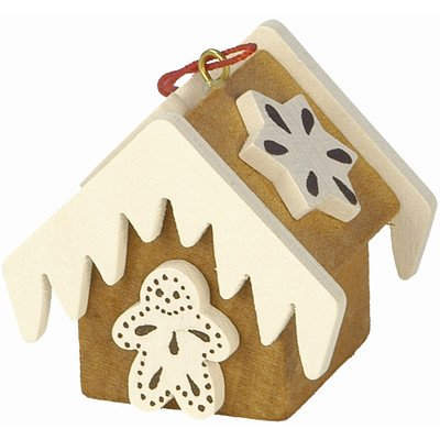 "10-0440 – Christian Ulbricht Ornament – Gingerbread House Brown – 1.5″""H x 1.5″""W x 1.5″""D"