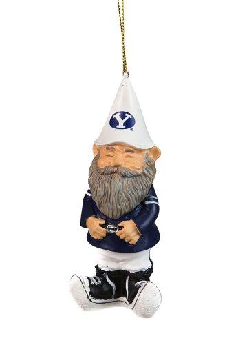 Brigham Young University Mini Garden Gnome Christmas Ornament