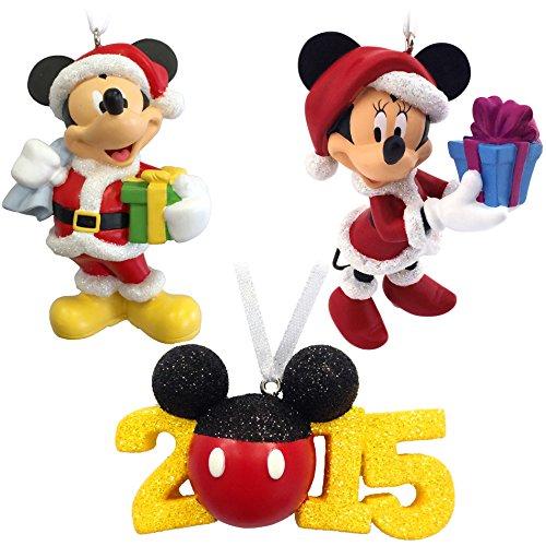Hallmark Disney Mickey and Minnie Mouse Set of Three Christmas Ornaments