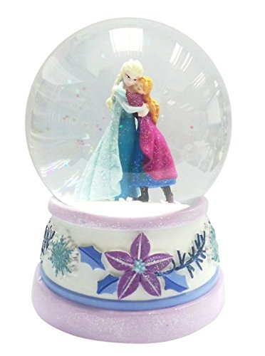 "Disney's Frozen Musical Water Globe Snow Globe Featuring Elsa & Anna Music Plays ""Let It Go"""