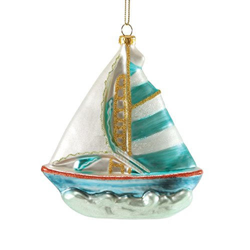 Department 56 Gone to The Beach Mercury Sailboat Ornament