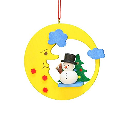 ULBR 10-0598 Christian Ulbricht Ornament – Snowman in Moon