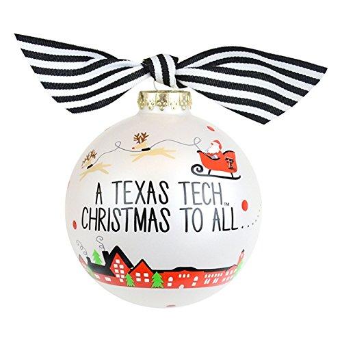 Santa's a Texas Tech Fan Glass Ornament
