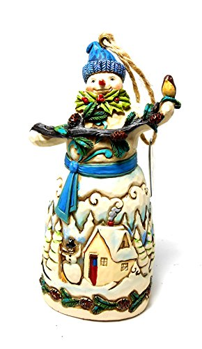 Enesco Department 56 – Jim Shore Snowman with Pinecone Garland Ornament (4049797)