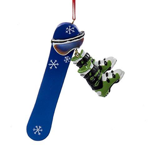 Kurt Adler 4.5″ Resin Snowboard Personalization Ornament