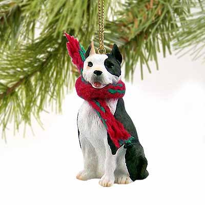 1 X Pit Bull Terrier Miniature Dog Ornament – Brindle