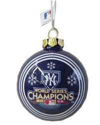 New York Yankees 2009 World Series Champions Glass Ball Ornament