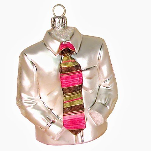 Ornaments to Remember: SHIRT AND TIE Christmas Ornament (Magenta)