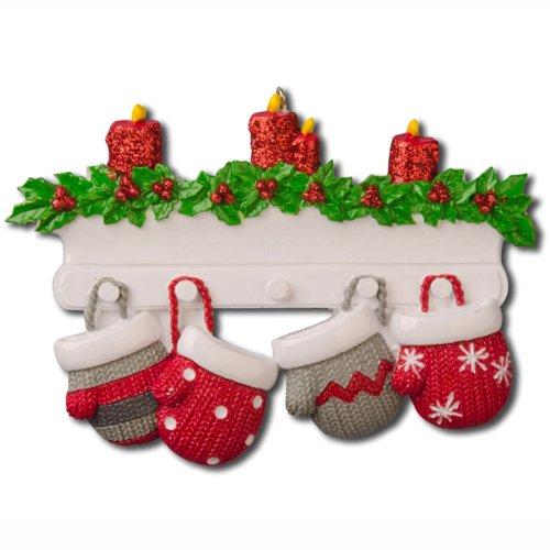 Polar X Christmas Ornament Mitten Family Of 4 Christmas Ornament