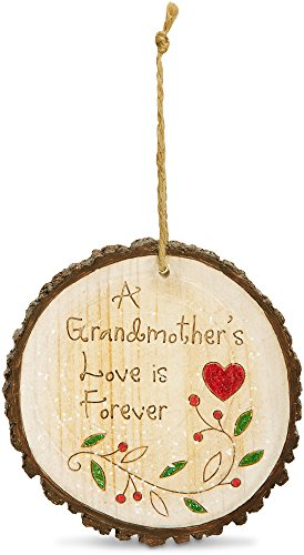 Pavilion Gift Company 78523 Heavenly Winter Woods A Grandmother's Love is Forever Ornament, 4″