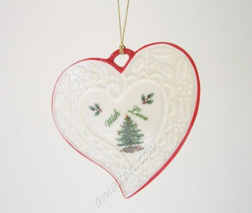 Spode Christmas Tree With Love Heart Ornament