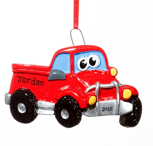 Christmas Holiday Pick Up Truck Ornament-Free Name Personalized-Shipped In One Day
