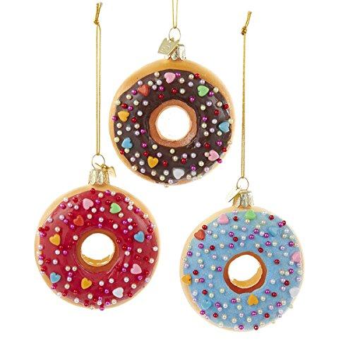 Kurt Adler Noble Gems Glass Donut Ornament