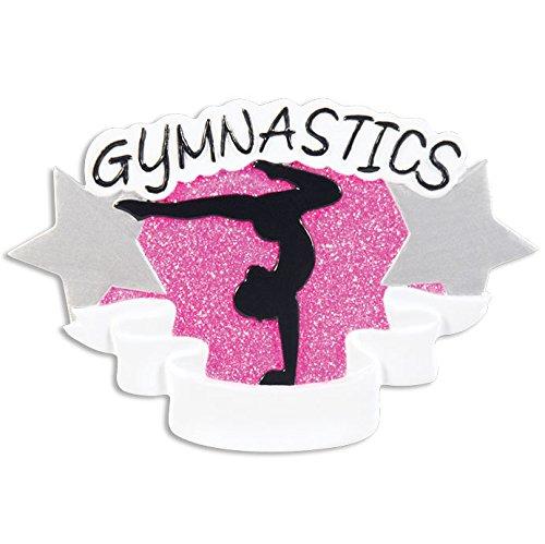 Gymnastics Personalized Christmas Tree Ornament