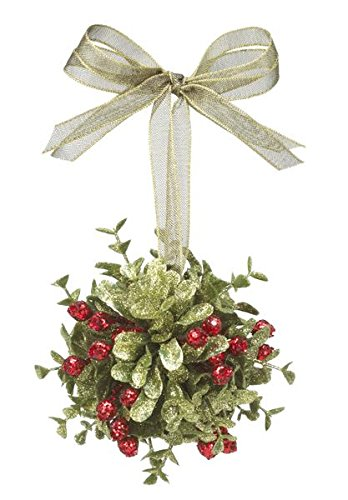 GANZ 3.5″Kyrstal Kiss Ball Ornament, Mistletoe Door Decor, – Wedding Acrylic KK239