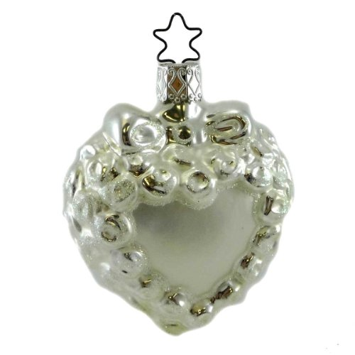 Inge Glas BRIDAL LACE Blown Glass Ornament Marriage Wedding Love 106607