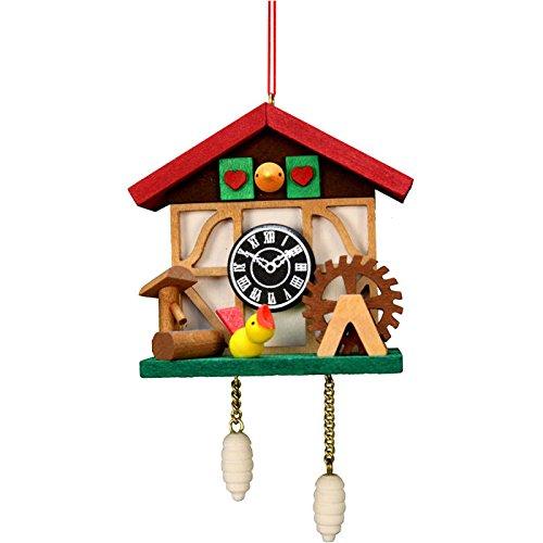 """10-0568 – Christian Ulbricht Ornament – Cuckoo Clock Bird – 4.5″""""H x 2.5″""""W x 1.5″""""D"""