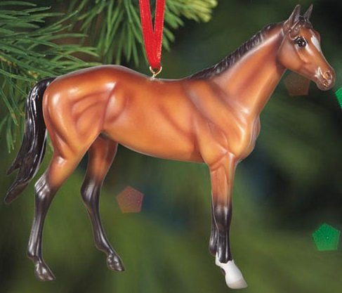 BREYER ★ BEAUTIFUL BREEDS THOROUGHBRED ORNAMENT ★ 2015 HOLIDAY HORSE ★ LIMITED EDITION