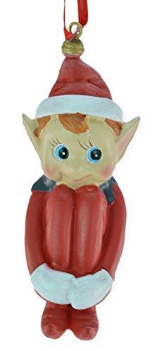 4″ Retro Elf Christmas Ornament