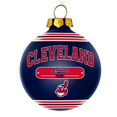 Cleveland Indians Official MLB 2014 Year Plaque Ball Ornament by Forever Collectibles