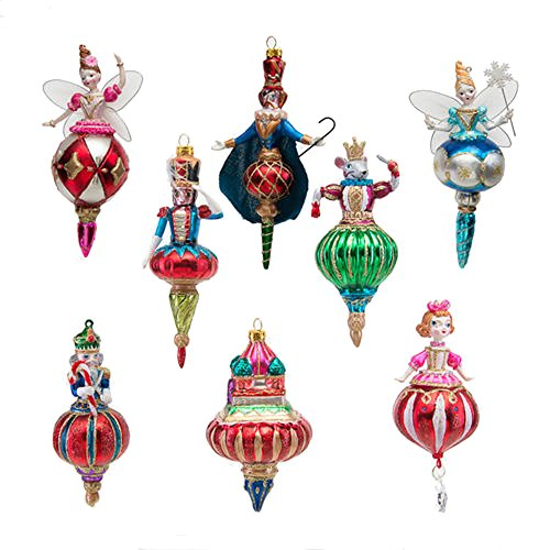 One Hundred 80 Degrees Nutcracker Characters Finial Ornaments (Set/8)