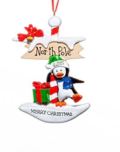 Child Christmas Holiday Petey At the North Pole Ornament-Free Name Personalized-Shipped In One Day
