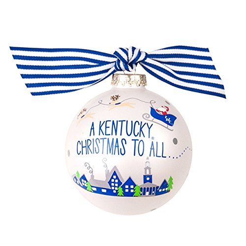 Santa's a Kentucky Fan Glass Ornament