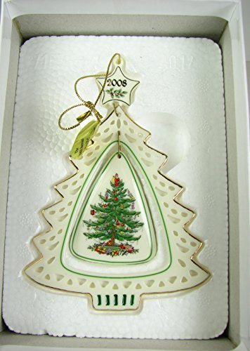 2008 Danbury Mint Spode Christmas Tree Ornament