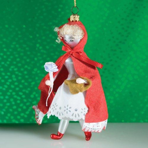 De Carlini Little Red Riding Hood Italian Mouthblown Glass Christmas Ornament